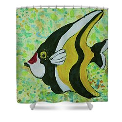 Tropical Fish Series 1 Of 4 Shower Curtain