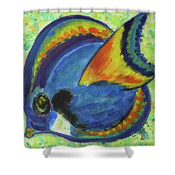 Tropical Fish Series 3 Of 4 Shower Curtain by Gail Kent