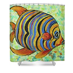 Tropical Fish Series 4 Of 4 Shower Curtain by Gail Kent