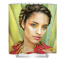 Tropical Floral Fashion Shower Curtain by Brandon Tabiolo - Printscapes