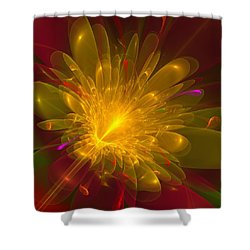 Tropical Flower Shower Curtain