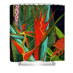 Tropical Flowers Assortment #60 Shower Curtain by Donald k Hall