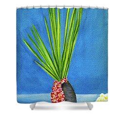 Tropical Flowers Still Life #218 Shower Curtain by Donald k Hall