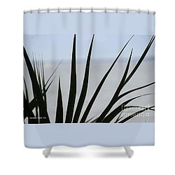 Tropical Focal Shower Curtain