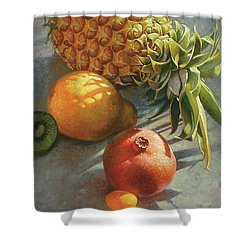 tropical Fruit Large Shower Curtain