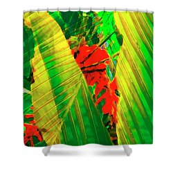 Tropical Fusion Shower Curtain by Stephen Anderson