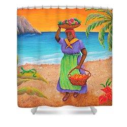 Tropical Harvest Shower Curtain by Pamela Allegretto