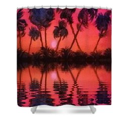 Tropical Heat Wave Shower Curtain by Holly Martinson