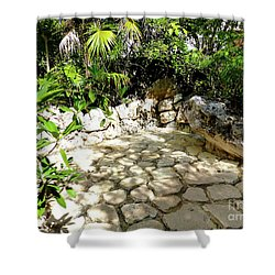 Shower Curtain featuring the photograph Tropical Hiding Spot by Francesca Mackenney
