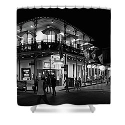 Tropical Isle Bourbon In Black And White Shower Curtain