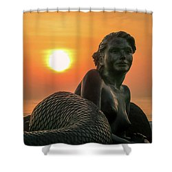 Tropical Mermaid Shower Curtain