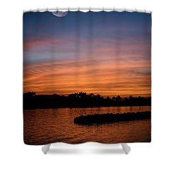 Shower Curtain featuring the photograph Tropical Moon by Laura Fasulo