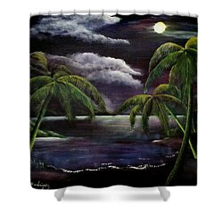 Tropical Moonlight Shower Curtain