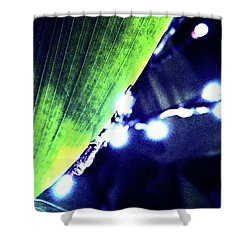 Shower Curtain featuring the digital art Tropical Night by Mindy Newman