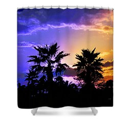 Shower Curtain featuring the photograph Tropical Nightfall by Francesa Miller