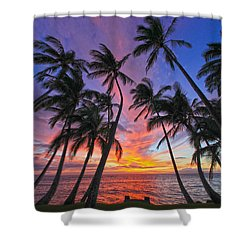 Tropical Nights Shower Curtain by James Roemmling
