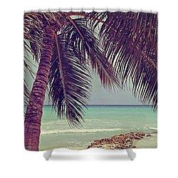 Tropical Ocean View Shower Curtain