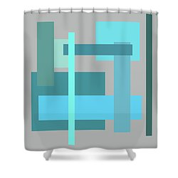 Tropical Oceans Square Abstract Shower Curtain