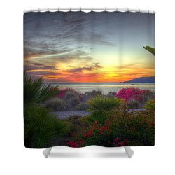 Tropical Paradise Sunset Shower Curtain