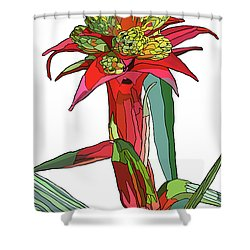 Tropical Reds Shower Curtain