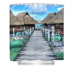 Tropical Resort Paradise Seascape Florida Keys 01 Shower Curtain