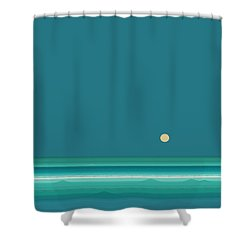 Tropical Sea Shower Curtain by Val Arie
