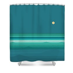 Shower Curtain featuring the digital art Tropical Seas by Val Arie