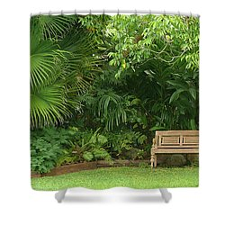 Tropical Seat Shower Curtain