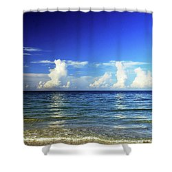 Shower Curtain featuring the photograph Tropical Storm Brewing by Gary Wonning