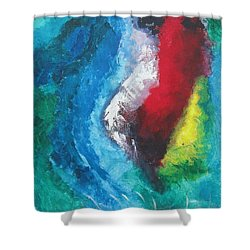 Tropical Storm Shower Curtain by Diane Pape