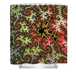 Tropical Storm Embroidered Shower Curtain