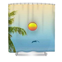 Tropical Sun Shower Curtain by Bill Cannon