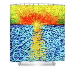 Tropical Sunrise Shower Curtain