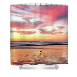 Tropical Sunset Island Bliss Seascape C8 Shower Curtain