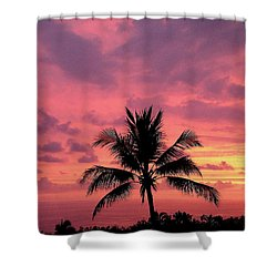 Tropical Sunset Shower Curtain