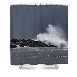 Tropical System Meets Jetty Shower Curtain