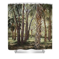 Tropical Trail's End Shower Curtain
