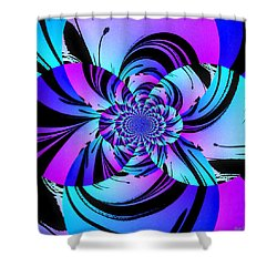 Shower Curtain featuring the digital art Tropical Transformation by Kathy Kelly