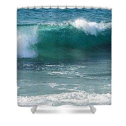 Tropical Treasure Coast Florida Seascape Wave 99 Shower Curtain
