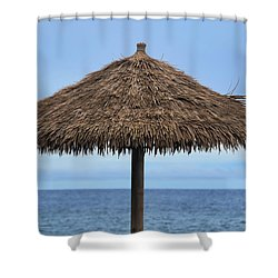 Shower Curtain featuring the photograph Tropical Umbrella by Pamela Walton