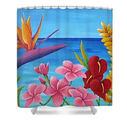 Tropical View Shower Curtain by Pamela Allegretto