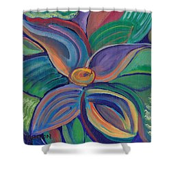 Shower Curtain featuring the painting Tropical Vision by John Keaton