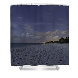 Tropical Winter Shower Curtain by Christopher L Thomley