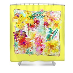 Shower Curtain featuring the digital art Tropicana Abstract By Kaye Menner by Kaye Menner