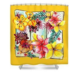 Shower Curtain featuring the photograph Tropicana On Yellow By Kaye Menner by Kaye Menner