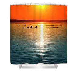 Tropicana Swimming Shower Curtain