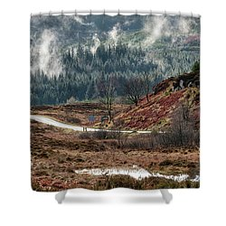 Shower Curtain featuring the photograph Trossachs National Park In Scotland by Jeremy Lavender Photography