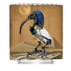 Thoth Egyptian God Shower Curtain