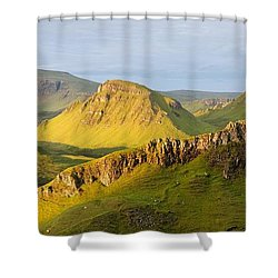Trotternish Summer Morning Panorama Shower Curtain