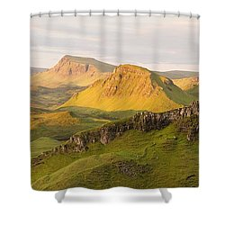 Trotternish Summer Panorama Shower Curtain
